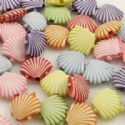 Acrylic beads, Assortment of colours, Irregular shape, 3mm x 11mm x 12mm, 50g, 150 beads, (YKL0008)